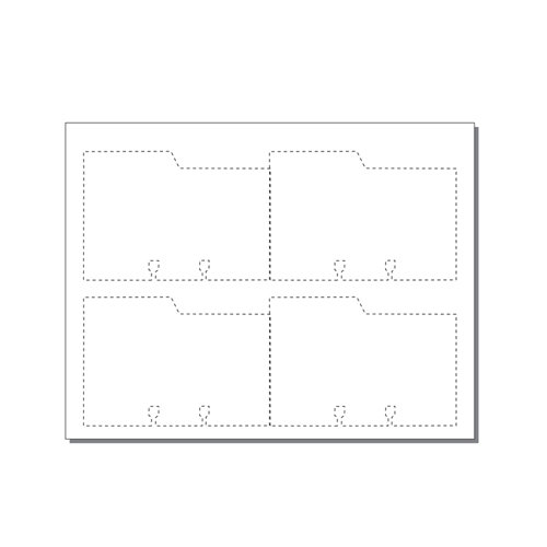 Zapco Large Rotary File Cards 4 Up With Left Tabs - 250 Sheets (ZAPFC121)