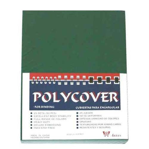 "5.5"" x 8.5"" Leather Grain Poly Binding Covers - 50pk (Half Letter Size) (MYLGPC5.5X8.5) Image 1"