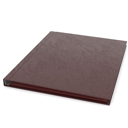 """ChannelBind Maroon 8.5"""" x 11"""" Leatherette Hard Covers (Size C) - 25pk (CHB-LEHC833), ChannelBind brand Image 1"""