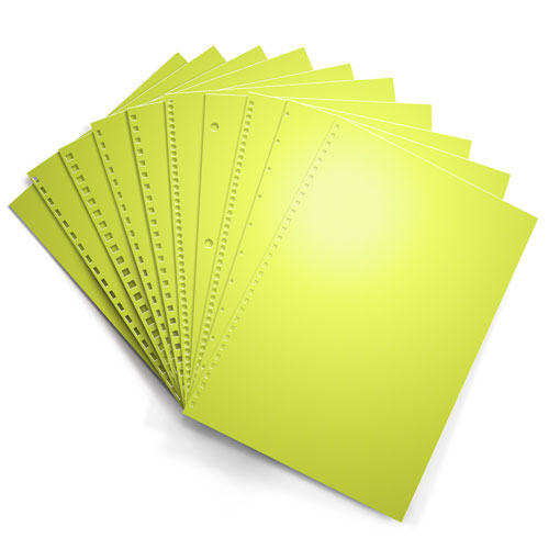Lift Off Lemon Astrobrights 24lb Punched Binding Paper - 500 Sheets (PPP24ABLOL) - $41.79 Image 1