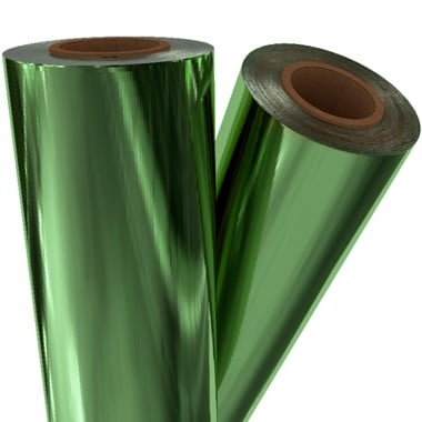 "Light Green Matte Metallic 8"" x 100' Laminating / Toner Fusing Foil (GRN-51-8) - $28.82 Image 1"