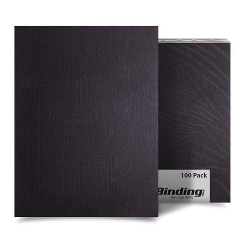 "Black Linen 8.5"" x 11"" Letter Size Covers - 100pk (MYLC8.5X11BK) Image 1"
