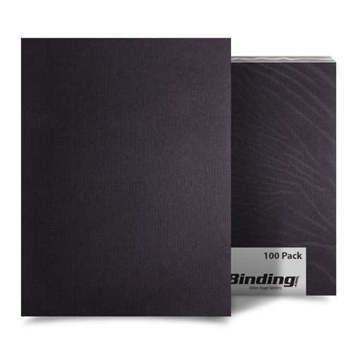 "Black Linen 5.5"" x 8.5"" Half Size Covers - 100pk (MYLC5.5X8.5BK) Image 1"