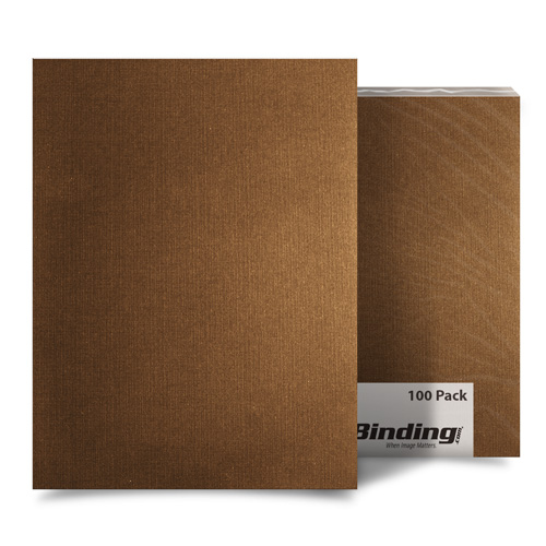 Brown Linen 8.5 x 11 Letter Size Covers - 100pk (MYLC8.5X11BR)