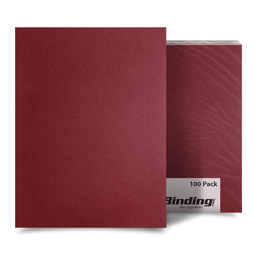 "Maroon Linen 5.5"" x 8.5"" Half Size Covers - 100pk (MYLC5.5X8.5MR) Image 1"