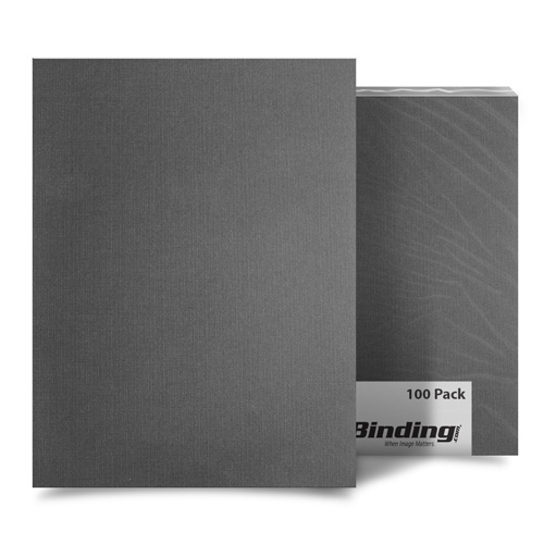 "Dark Gray Linen 8.5"" x 11"" Letter Size Covers - 100pk (MYLC8.5X11GY) Image 1"