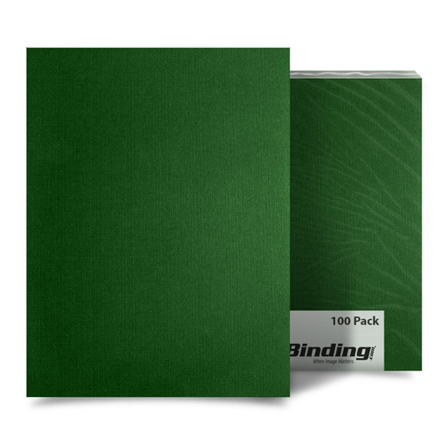 "Dark Green Linen 11"" x 17"" Covers - 100pk (MYLC11X17GR) Image 1"