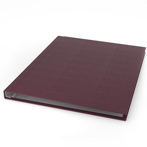 "ChannelBind Maroon 8.5"" x 11"" Linen Hard Covers (Size C) - 25pk (CHB-21133), Binding Supplies Image 1"