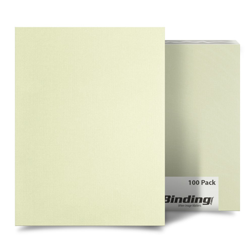 "Ivory Linen 9"" x 11"" Index Allowance Covers - 100pk (MYLC9X11IV) Image 1"