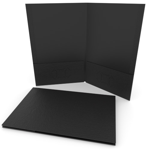 Black Linen Customizable Legal Size Pocket Folders - 250pk (MYLCPFLGBK) Image 1