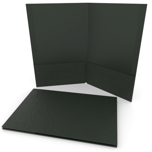 Green Linen Customizable Legal Size Pocket Folders - 250pk (MYLCPFLGGN) Image 1