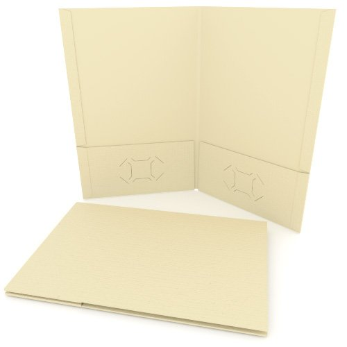 Ivory Linen Customizable Legal Size Pocket Folders - 250pk (MYLCPFLGIV) Image 1