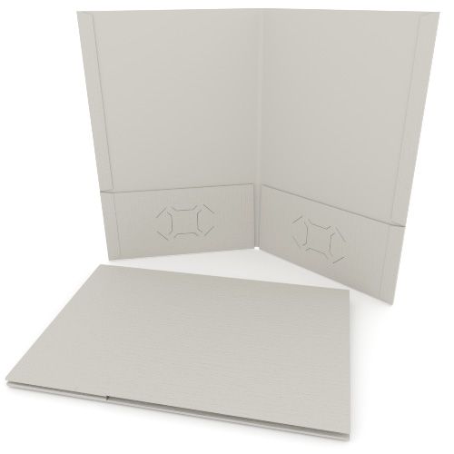 Light Gray Linen Customizable Legal Size Pocket Folders - 250pk (MYLCPFLGLG) Image 1