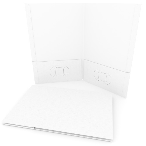 White Linen Customizable Legal Size Pocket Folders - 250pk (MYLCPFLGWH) Image 1