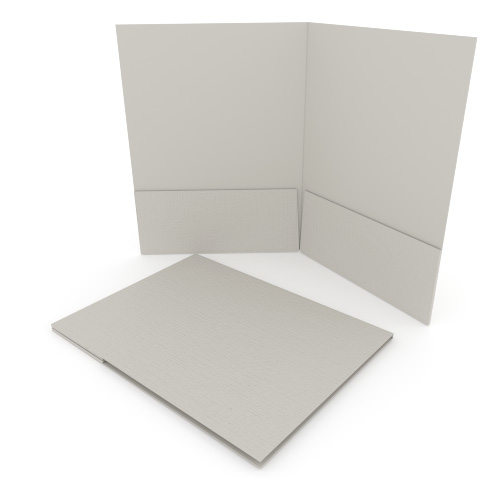 Light Gray Linen Customizable Letter Size Pocket Folders - 250pk (MYLCPFLRLG) Image 1
