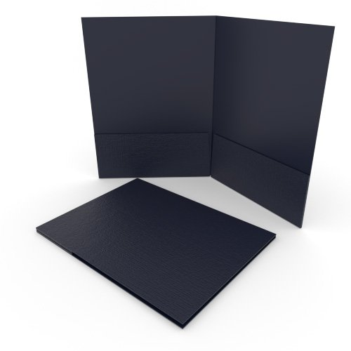 Navy Pocket Folders Image 1