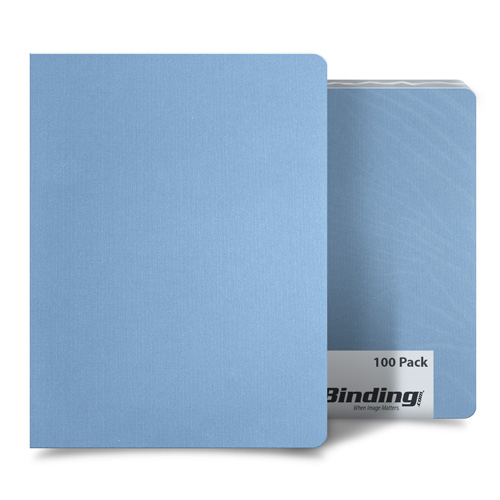 "Light Blue Linen 8.75"" x 11.25"" Oversize Covers - 100pk (MYLC8.75X11.25LBL) Image 1"