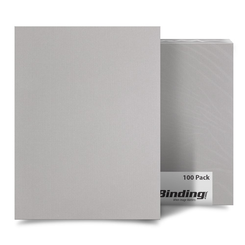"Light Gray Linen 9"" x 11"" Index Allowance Covers - 100pk (MYLC9X11LGY) Image 1"