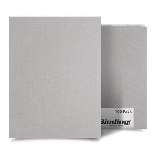 "Light Gray Linen 8.5"" x 14"" Legal Size Covers - 100pk (MYLC8.5X14LGY) Image 1"
