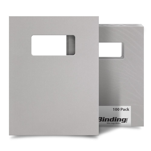 "Light Gray Linen 9"" x 11"" Index Allowance Covers with Windows - 100 Sets (MYLC9X11LGYW) Image 1"