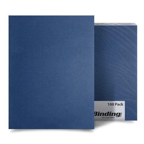 "Navy Blue Linen 9"" x 11"" Index Allowance Covers - 100pk (MYLC9X11NV) Image 1"