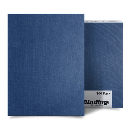 Navy Blue Linen A4 Size Binding Covers - 100pk (MYLC8.3X11.7NV) Image 1