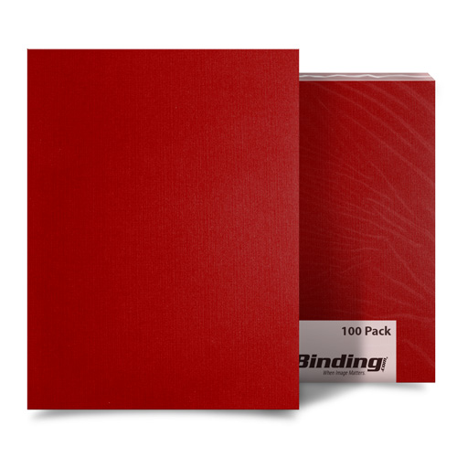 "Red Linen 8.5"" x 11"" Letter Size Covers - 100pk (MYLC8.5X11RD) Image 1"
