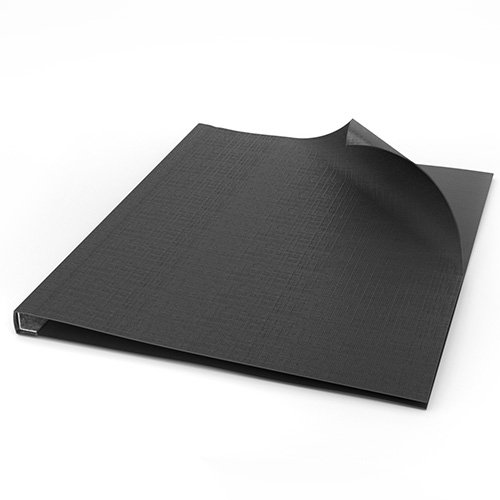 "ChannelBind Black 8.5"" x 11"" Linen Soft Covers (Size AA) - 50pk (CHB-53105), Binding Supplies Image 1"
