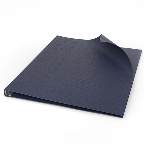 """ChannelBind Blue 9"""" x 11"""" Linen Soft Covers (Size AA) - 50pk (CHB-57107) Image 1"""