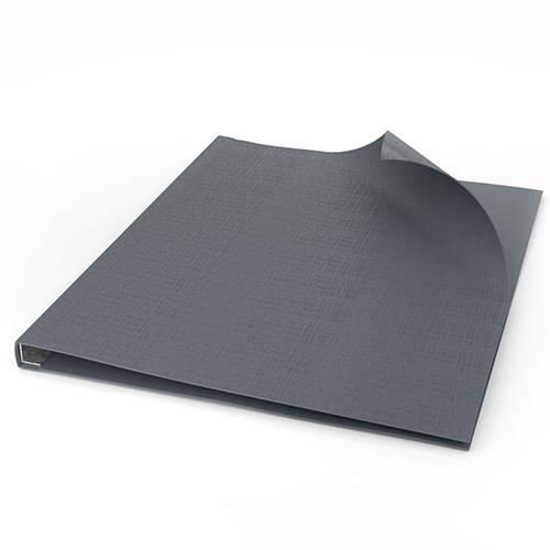"""ChannelBind Gray 9"""" x 11"""" Linen Soft Covers (Size AA) - 50pk (CHB-57104) Image 1"""