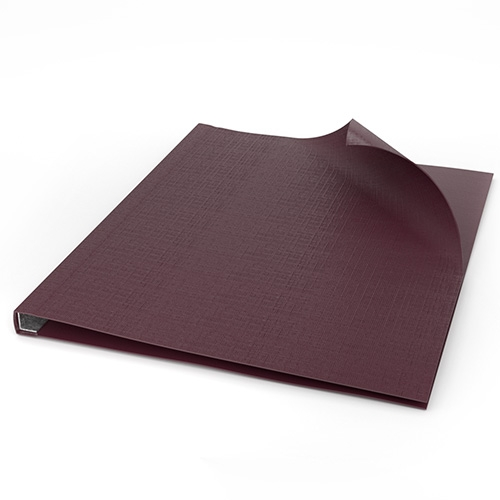 "ChannelBind Maroon 9"" x 11"" Linen Soft Covers (Size C) - 25pk (CHB-27133) - $85.93 Image 1"