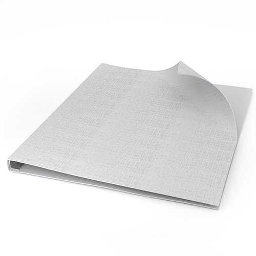 "ChannelBind White 8.5"" x 11"" Linen Soft Covers (Size AA) - 50pk (CHB-53108), Binding Supplies Image 1"