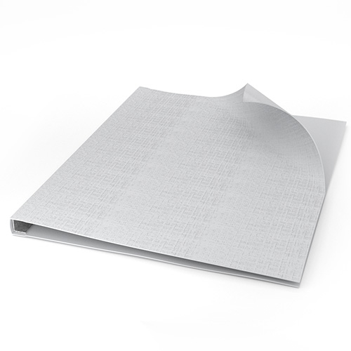 "ChannelBind White 8.5"" x 11"" Linen Soft Covers (CHB-8.5x11LSC-WHT), Binding Supplies Image 1"