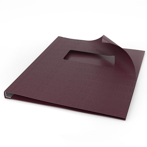 "ChannelBind Maroon 8.5"" x 11"" Linen Soft Covers with Window (Size AA) - 50pk (CHB-54103) Image 1"
