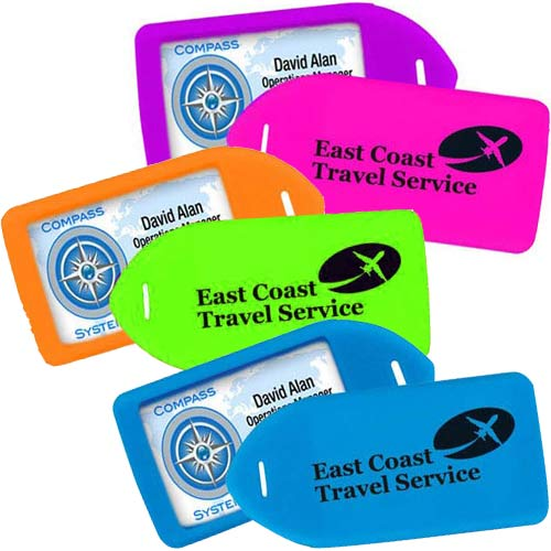 Plastic Neon Luggage Tags Image 1