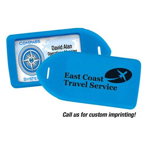 Luggage Tag Holder - Neon Blue - 100pk (MYIDLT11BLU) Image 1