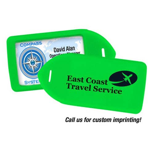 Luggage Tag Holder - Neon Green - 100pk (MYIDLT11GRN) Image 1