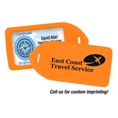 Luggage Tag Holder - Neon Orange - 100pk (MYIDLT11ORG) Image 1