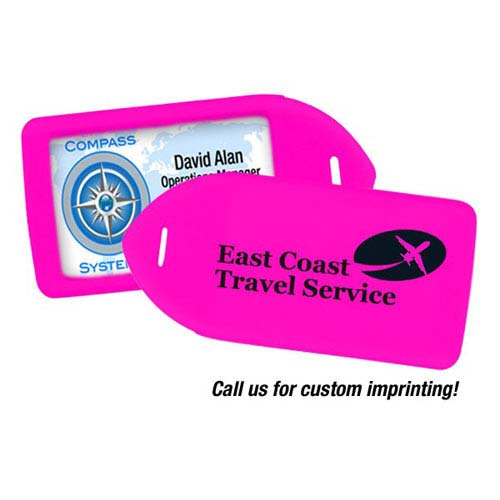 Luggage Tag Holder - Neon Pink - 100pk (MYIDLT11PNK) Image 1