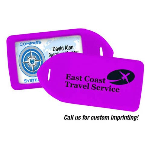 Luggage Tag Holder - Neon Purple - 100pk (MYIDLT11PUR) Image 1
