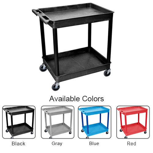 Luxor 2-Shelf Large Tub Utility Cart (TC11-2SBLTUC) Image 1