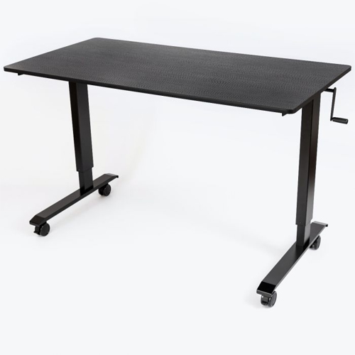 "Luxor 60"" High Speed Crank Adjustable Black Oak Stand Up Desk (STANDCF60-BK/BO) Image 1"