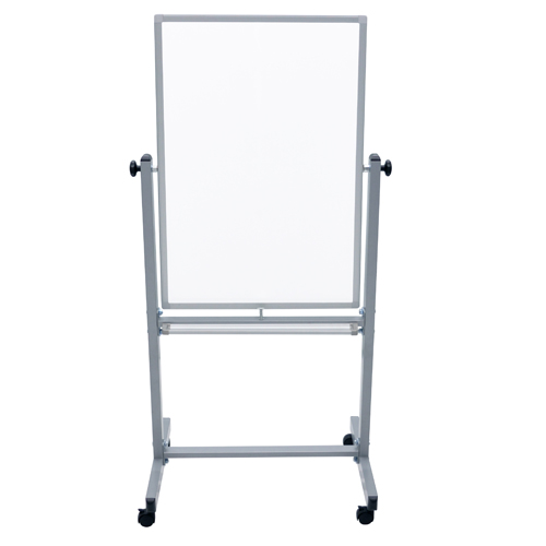 "Luxor 24"" x 36"" Reversible Mobile Steel Magnetic Whiteboard (L270) Image 1"