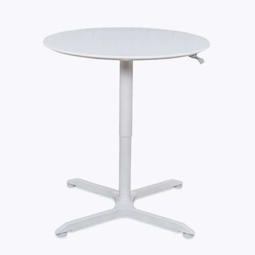 Luxor Pneumatic Height Adjustable Café White Round Tables (LX-PNADJ-RD), Work from Home Products Image 1