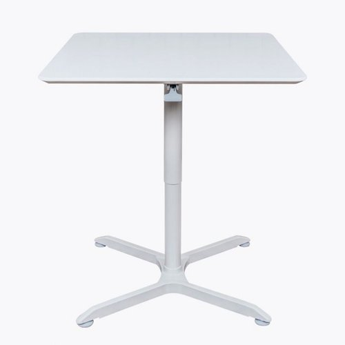 """Luxor 32"""" Pneumatic Height Adjustable Café White Square Table (LX-PNADJ-32SQ), Brands Image 1"""