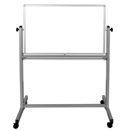 "Luxor 36"" x 24"" Reversible Magnetic Steel Mobile Whiteboard (MB3624WW) Image 1"
