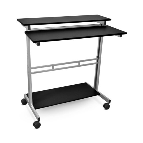 "Luxor 40"" Wide Adjustable Stand-Up Workstation (Black) (STANDUP-40-B)"