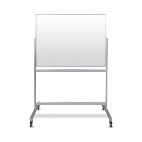 "Luxor 48"" x 36"" Double-Sided Mobile Magnetic Glass Whiteboard (MMGB4836) Image 1"
