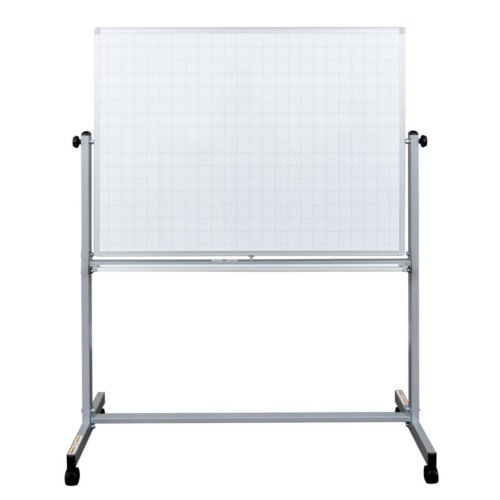 "Luxor 48"" x 36"" Mobile Magnetic Double-Sided Ghost Grid Whiteboard (MB4836LB) Image 1"