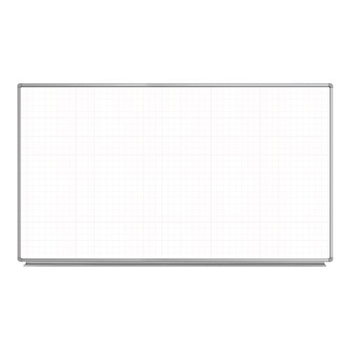 Luxor Wall-Mounted Magnetic Ghost Grid Whiteboards (LWMMGGW) Image 1